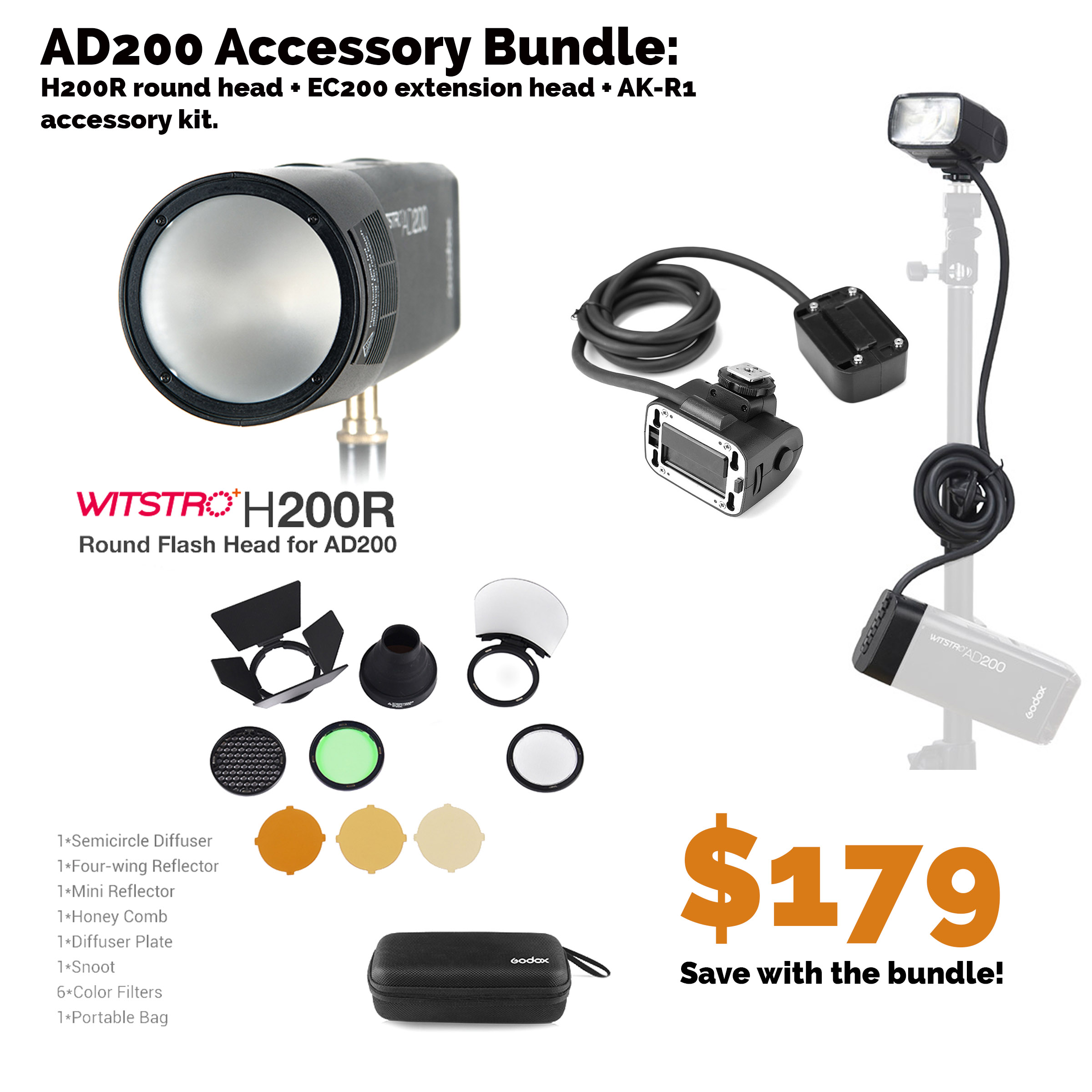Bundle: Accessories for the AD200/AD200Pro