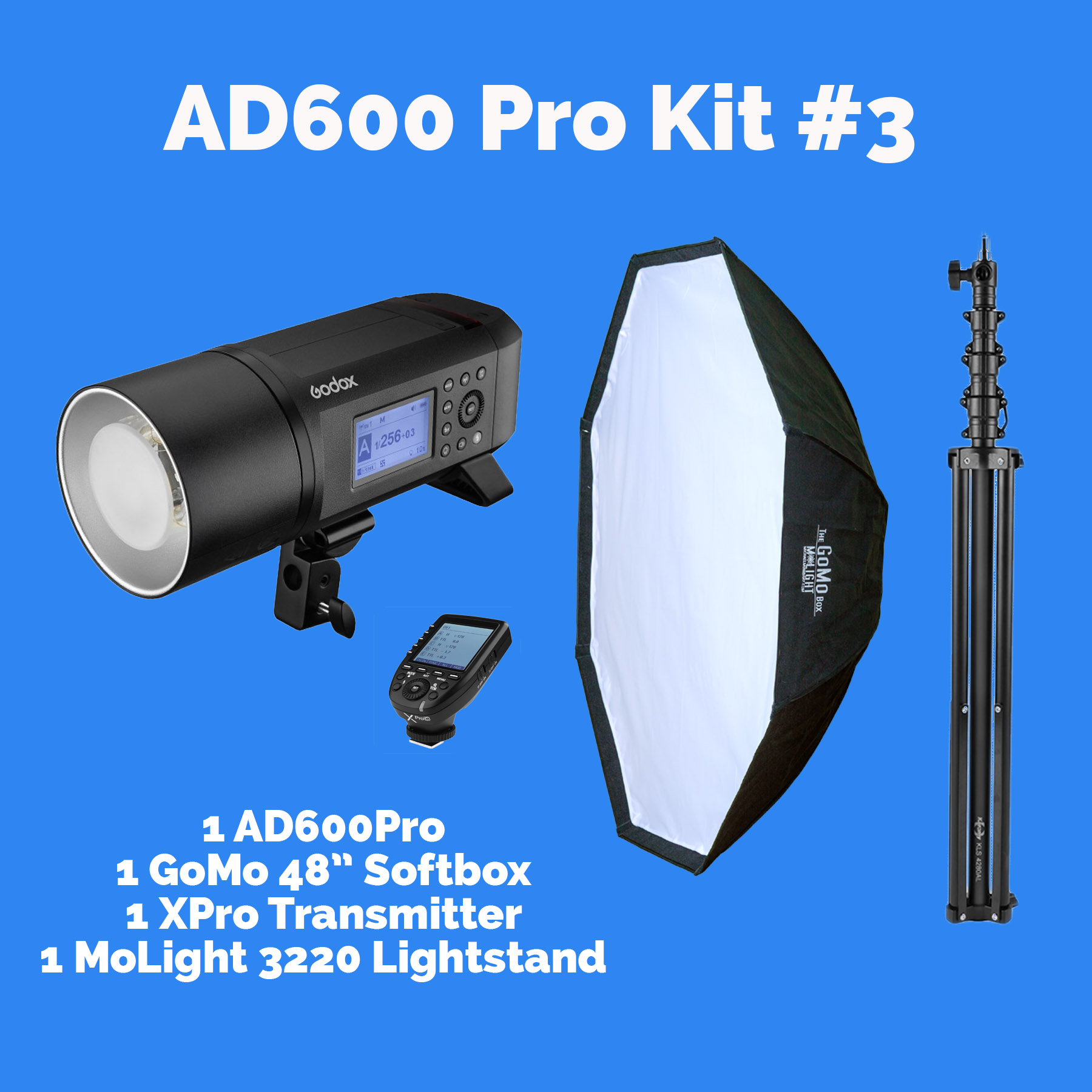 "AD600Pro Kit #3 with GoMo 48"" Octabox"