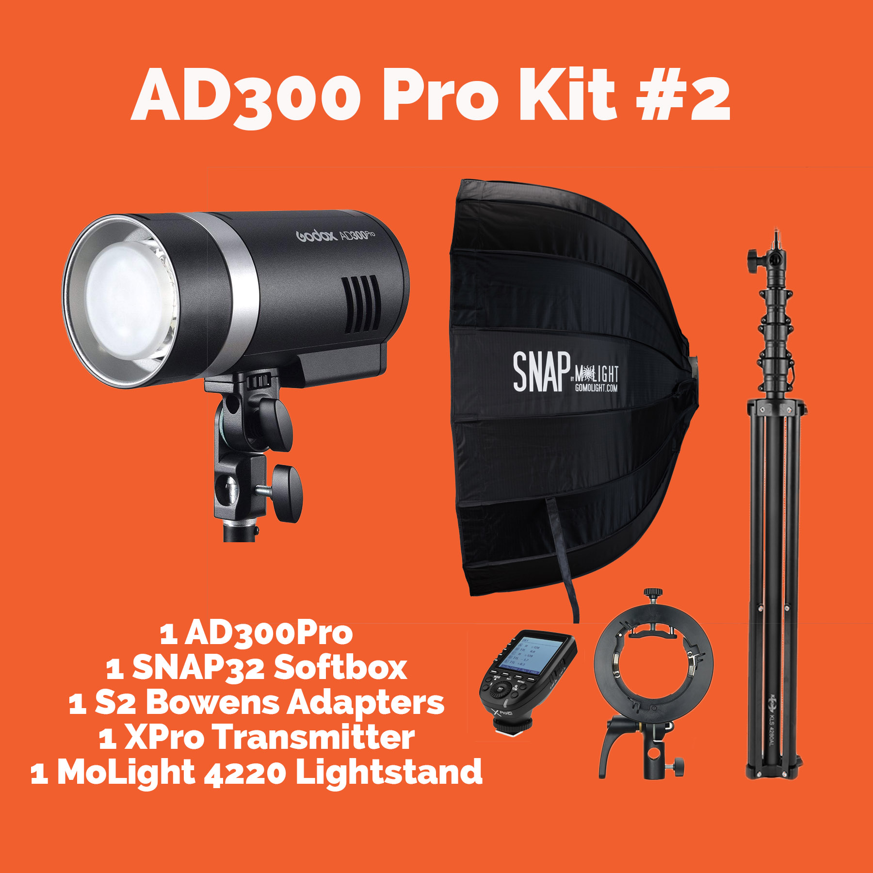 AD300Pro Kit #2 with SNAP32