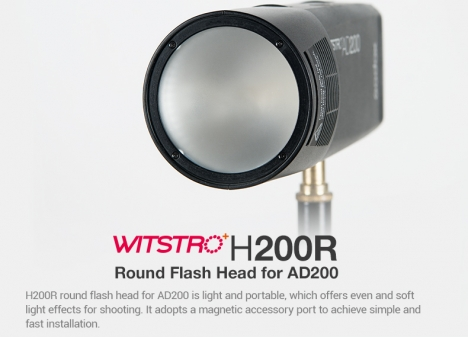 H200R Round Head for AD200