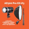 AD300Pro Kit #3 with SNAP2x3 Rectangular Softbox