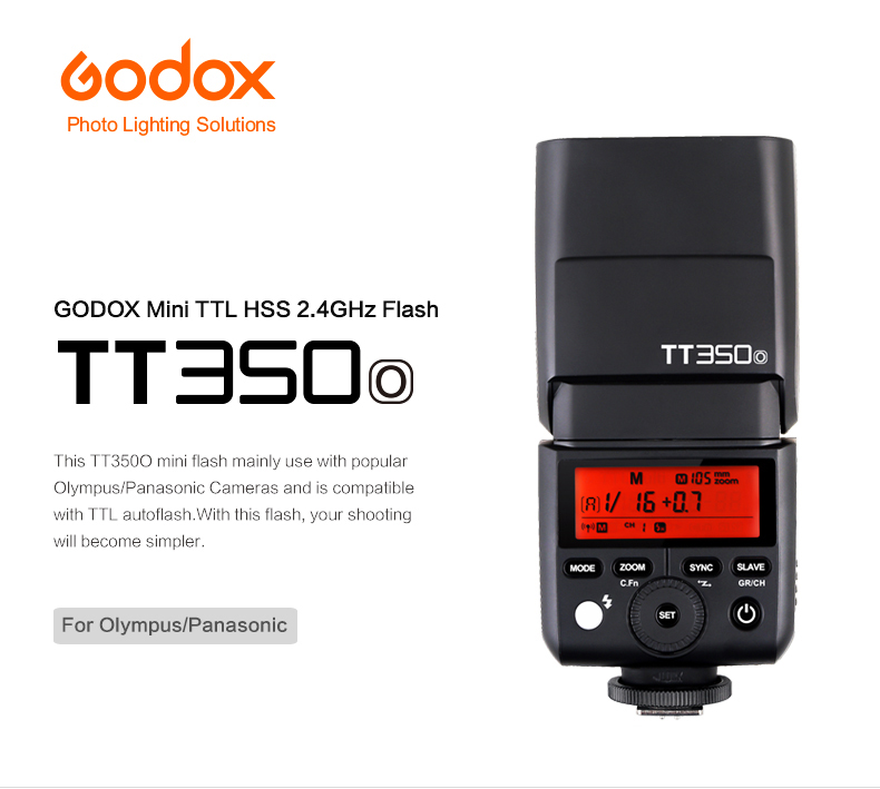 MoLight Godox TT350 Mini Flash - Olympus/Panasonic