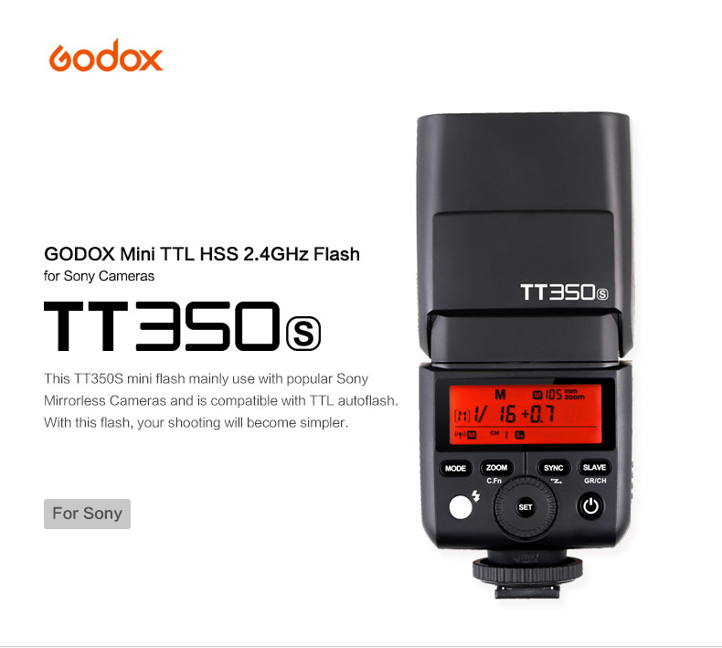 MoLight Godox TT350S Mini Flash - Sony
